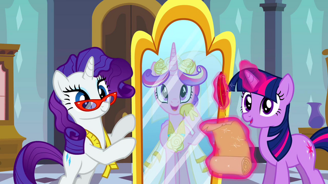 File:Princess Cadance looking in Rarity's mirror S2E26.png