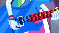 Rainbow Dash guitar closeup EG2