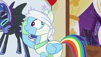 Rainbow removes her blindfold S5E21