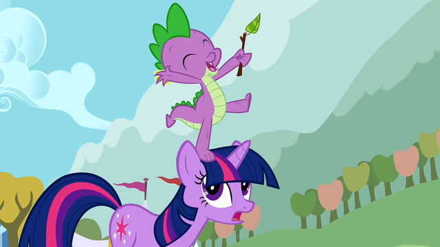 File:Spike on Twilight's head S01E13.png