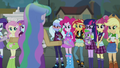 Celestia addresses the Wondercolts and Shadowbolts right side EG3.png