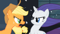Rarity getting yell by Applejack S2E11.png