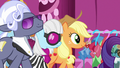 Applejack, Hoity Toity, and Photo Finish following Rarity S7E9.png
