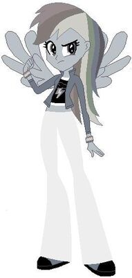 FANMADE Rainbow Dash Human Gray