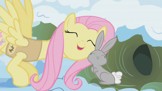 File:Fluttershy with bunny S01E11.png