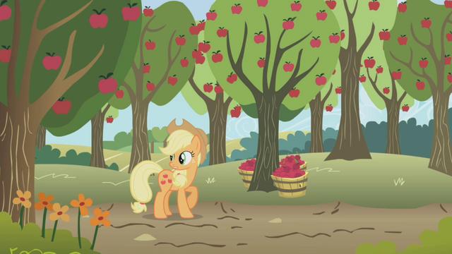 """File:Applejack """"I better get kickin'"""" S1E04.png"""