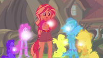 Equestria Girls glow in the color of their geodes EG4