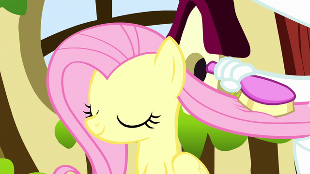 File:Fluttershy having her mane brushed S5E13.png