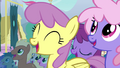 Ponies cheer for Fluttershy S4E16.png