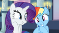 Rarity and Rainbow Dash giggling S2E25.png
