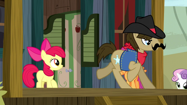 File:Sheriff Silverstar galloping out of his office S5E6.png