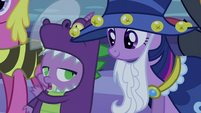 Spike talking to Twilight S2E04