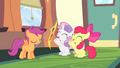 Apple Bloom and Sweetie Belle cheering S4E24.png