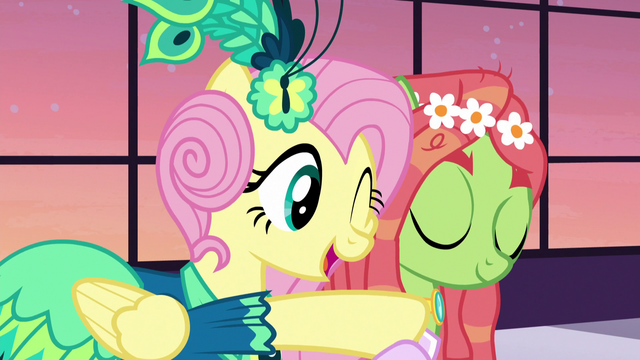 File:Fluttershy hugs Tree Hugger S5E7.png
