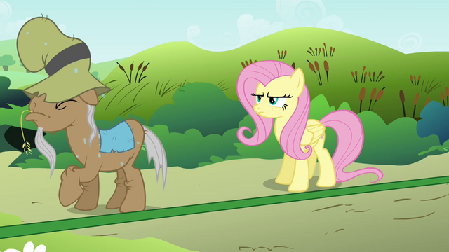 File:Mr. Greenhooves backing up to Fluttershy S2E19.png