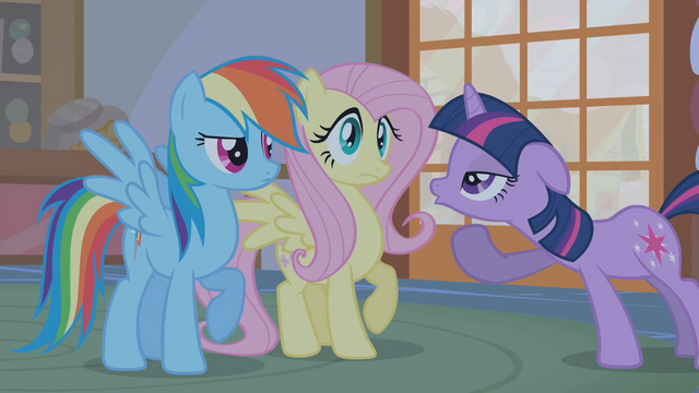 "File:Twilight sarcastically ""Oooohs"" at Rainbow's dramatization S1E09.png"