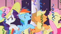 Rainbow Dash's cutie mark over her wing S2E9