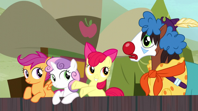 File:Apple Bloom tells Trouble Shoes to join in S5E6.png