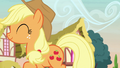 Applejack happily walking back home S7E9.png