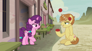 Feather Bangs impresses Sugar Belle with his juggling S7E8
