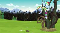 Rainbow Dash gets ensnared by vines EG4