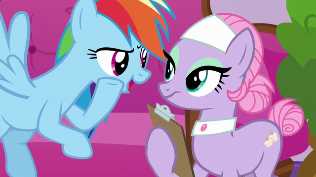 File:Rainbow Dash whispering to Spa Pony S6E10.png