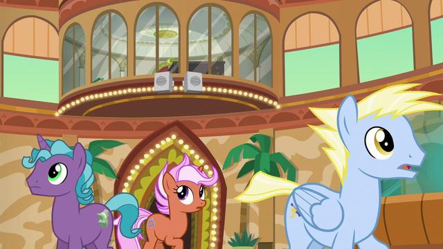 File:Resort ponies hear Gladmane's voice S6E20.png