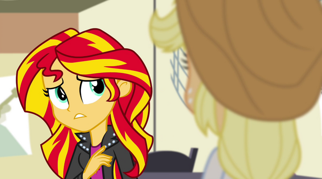 File:Sunset Shimmer unsure of herself EG2.png