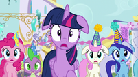 Twilight and friends shocked by Moon Dancer's outburst S5E12