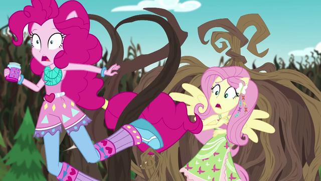 File:Vines knocking over Pinkie Pie EG4.png