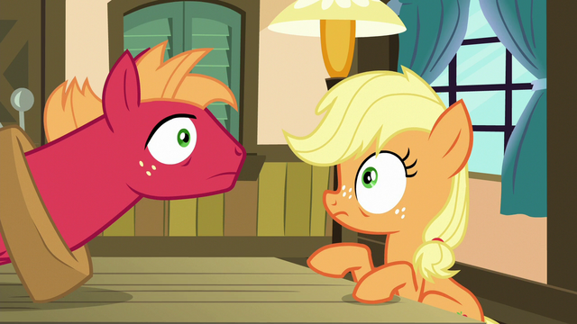 File:Applejack and Big Mac hear a knock at the door S6E23.png