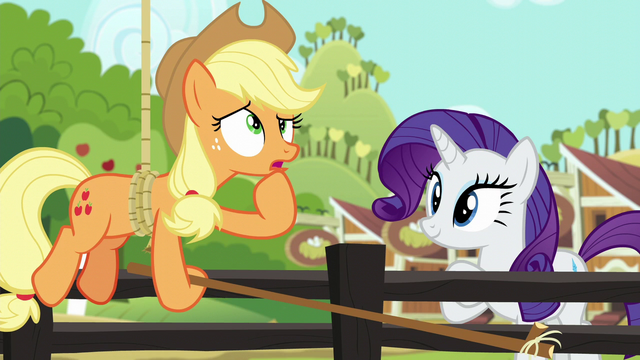 File:Applejack wondering about her other chores S6E10.png