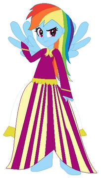 FANMADE Rainbow Dash Human Poof Dress