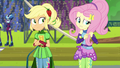 "Fluttershy ""glad I don't go to Crystal Prep"" EG3.png"