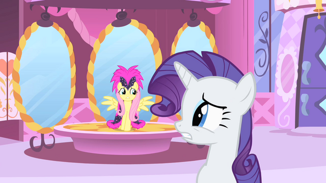 File:Rarity and Fluttershy nervous S1E20.png