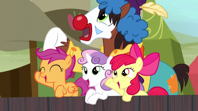 File:Trouble Shoes and CMC cheering S5E6.png