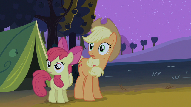 File:Apple Bloom and Applejack gasping S2E5.png