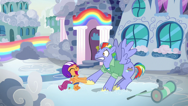 File:Bow Hothoof surprised by Scootaloo's hoofshake S7E7.png