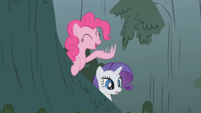 "File:Pinkie tells Fluttershy to ""flap those wings!"" S1E07.png"