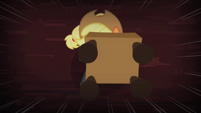 Applejack pointing the chair towards the chimera S4E17