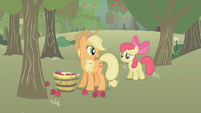 Applejack speaking to Apple Bloom S1E12