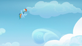 Rainbow Dash gestures for Vapor Trail to follow S6E24.png