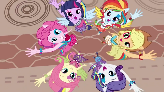 File:Rainbow Rocks Mane 6 overhead shot.png