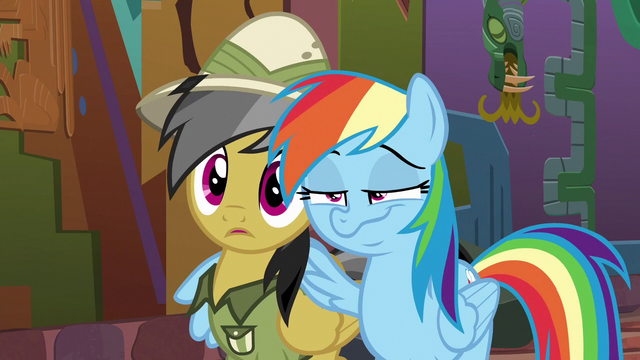 File:Rainbow puts a wing around Daring Do S6E13.png