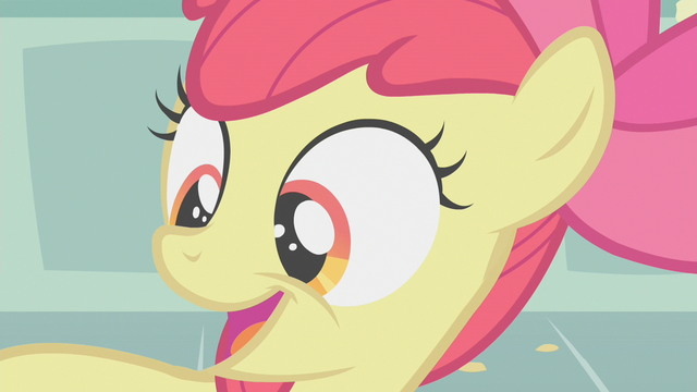 File:Apple Bloom believing she obtained her cutie mark S1E12.png