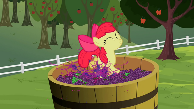 File:Apple Bloom stomping on grapes S2E05.png