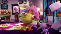 Fluttershy tossing her pillow EGM4
