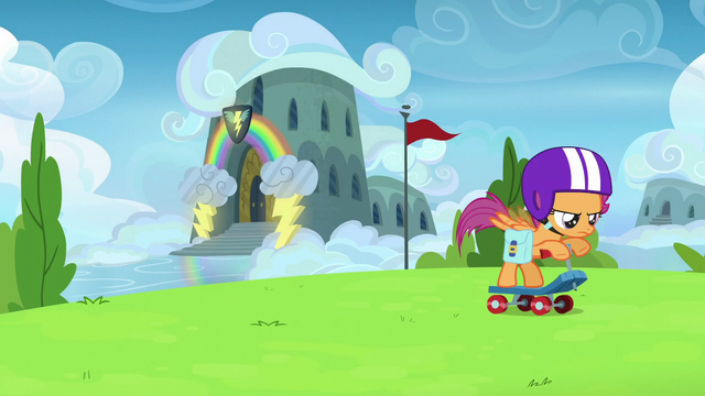 File:Scootaloo leaving the Wonderbolt Academy S7E7.png