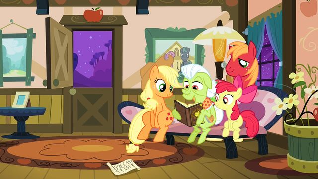 File:The Apples looking through their photo album S3E8.png