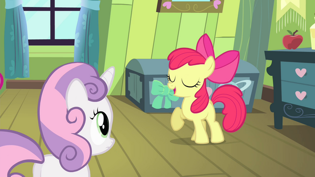 "File:Apple Bloom ""somepony watchin' over me!"" S4E17.png"